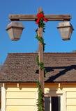 Alberino vecchia San Diego della lampada di natale Fotografie Stock Libere da Diritti