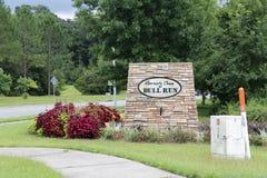 Albermarle Goni byka bieg sąsiedztwo Podpisuje wewnątrz Tallahassee Obrazy Stock