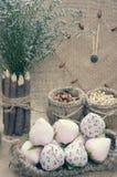 Albern Sie, guten Rutsch ins Neue Jahr 2016, Zeit, Uhr, handgemachte Frucht herum Lizenzfreie Stockfotografie