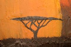 Albero africano dell'acacia Fotografia Stock
