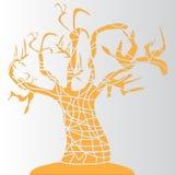 Albero arancione illustrazione di stock