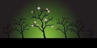 Albero asciutto in fioritura royalty illustrazione gratis