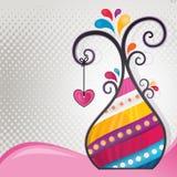 Albero astratto multicolore con cuore Immagini Stock Libere da Diritti