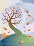 Albero in autunno royalty illustrazione gratis