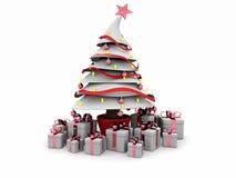 albero bianco di natale 3d royalty illustrazione gratis