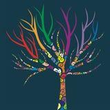 Albero colorato Fotografia Stock