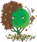 Albero comico dell'illustrazione in autunno Immagine Stock Libera da Diritti