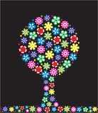 Albero con i fiori Immagine Stock Libera da Diritti