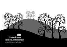 Albero con l'illustrazione di vettore del monticello Fotografia Stock Libera da Diritti