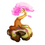 Albero con la corona rosa Fotografie Stock