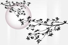 Albero con la luna Immagini Stock Libere da Diritti