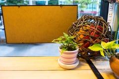 Albero d'angolo in caffè Fotografia Stock