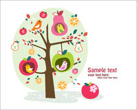 Albero da frutto capriccioso Fotografia Stock