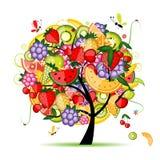 Albero da frutto di energia per il vostro disegno Immagini Stock Libere da Diritti