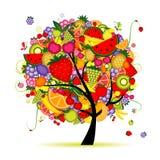 Albero da frutto di energia per il vostro disegno Fotografia Stock