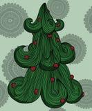 Albero decorativo del nuovo anno royalty illustrazione gratis