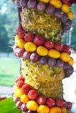 Albero decorato da frutta Immagini Stock Libere da Diritti