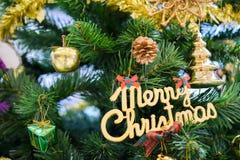Albero decorato di cristmas Fotografie Stock
