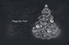 Albero decorato di nuovo anno Fotografie Stock Libere da Diritti