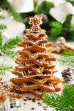 Albero dei biscotti dello zenzero Fotografie Stock