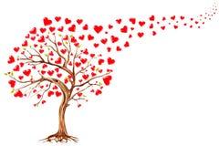 Albero dei cuori, fondo di giorno di biglietti di S. Valentino royalty illustrazione gratis