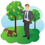 Albero dei soldi Immagini Stock Libere da Diritti