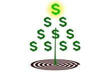 Albero dei soldi Immagine Stock Libera da Diritti