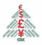 Albero dei soldi di natale Immagini Stock Libere da Diritti