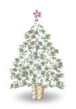 Albero dei soldi di Natale Fotografia Stock