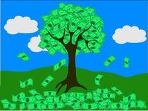 Albero dei soldi (vettore) Immagini Stock Libere da Diritti