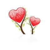 Albero del biglietto di S. Valentino Fotografie Stock
