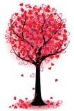 Albero del biglietto di S. Valentino dei cuori Immagini Stock Libere da Diritti