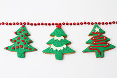 Albero del biscotto di Natale fotografie stock
