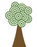 albero del cerchio Immagine Stock