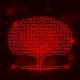 Albero del circuito di computer Immagine Stock