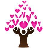 Albero del cuore Immagini Stock Libere da Diritti