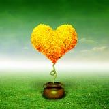 Albero del cuore immagine stock