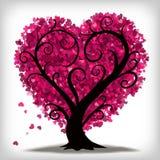 Albero del cuore di amore Fotografia Stock Libera da Diritti