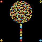 Albero del fiore illustrazione di stock