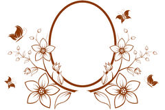 Albero del fiore con il blocco per grafici Immagine Stock