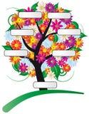 Albero del fiore con il contrassegno Fotografie Stock
