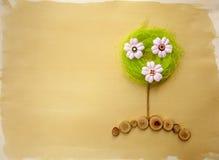 Albero del fiore della pagina w dell'album per ritagli Fotografia Stock