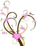 Albero del fiore di ciliegia di amore illustrazione di stock