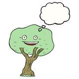 albero del fumetto con la bolla di pensiero Immagini Stock Libere da Diritti