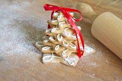 Albero del pan di zenzero di Natale Fotografie Stock Libere da Diritti