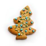 Albero del pan di zenzero di Natale Immagini Stock