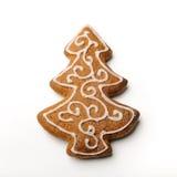 Albero del pan di zenzero di Natale Immagine Stock