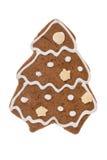 Albero del pan di zenzero di Natale isolato su un fondo bianco Immagini Stock