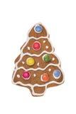 Albero del pan di zenzero di Natale isolato su un fondo bianco Immagine Stock