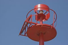 Albero del segnale in Croazia davanti a cielo blu Fotografie Stock